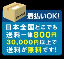 送料は日本全国一律800円